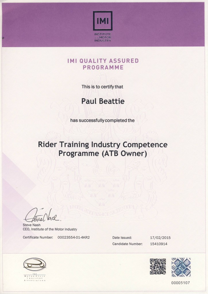Inner circle achieves mciac accreditation for Institute of the motor industry