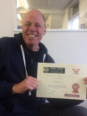 """Alan with his ERS Certficate after obtaining an """"A"""" grade"""