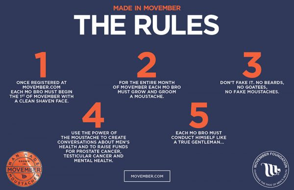Movember Rules
