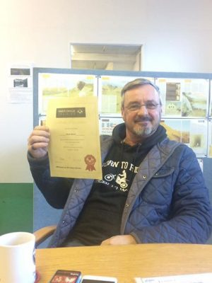 A very happy Mark after passing both his motorcycle tests first time!